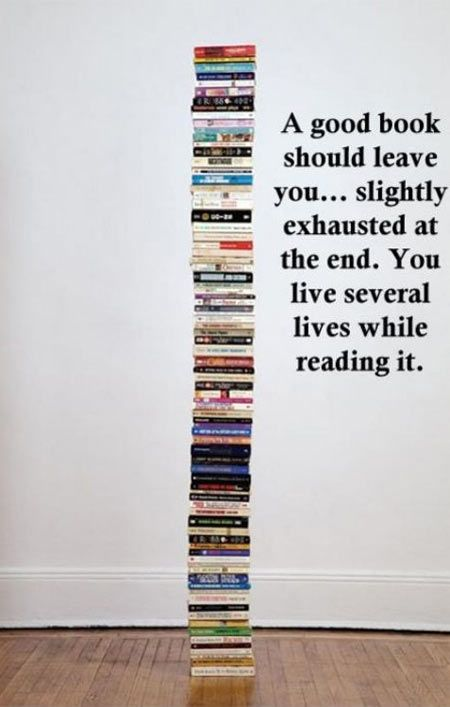 Books are exciting.