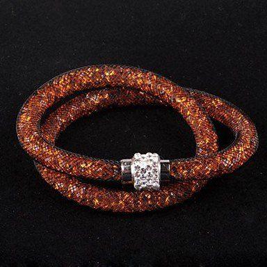 Trendy wikkelarmbanden in oranje kleur unieke ontwerp