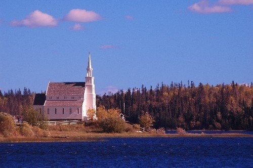 Holy Trinity Anglican Church Provincial Historic Site - Build between 1854 and 1860 it is the oldest standing building in Saskatchewan and is found along the Churchill River in Lac La Ronge Provincial Park.