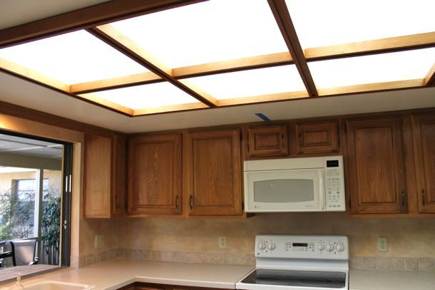 This is my exact kitchen need to follow this remodel for Dropped ceiling kitchen ideas