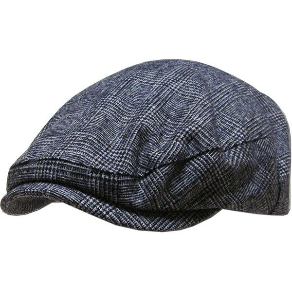 KBL-102 DGY S/M Plaid Ascot Ivy Newsboy Hat ❤ liked on Polyvore featuring accessories, hats, plaid hat, newsboy hat, news boy cap, plaid newsboy cap and baker boy