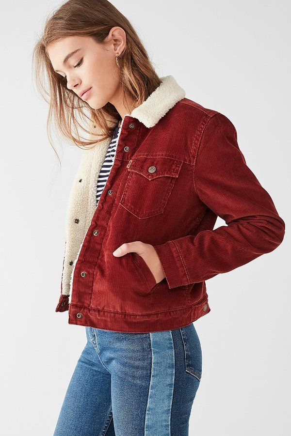 Levi's Levi's Corduroy Sherpa Jacket  teen teenage fashion style vacation beach college summer + spring womens outfits casual romper first day school fall + winter sweater     Disclosure: Please note the link is an affiliate link which means-at zero cost to you-I might earn a commission if you buy something through my links.