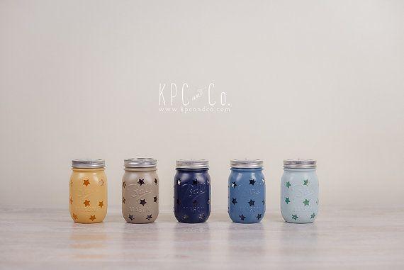Little Star Mason Jar LED Night Light by KPCandCo on Etsy