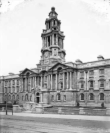 Town Hall,  Wellington Road South, Stockport 1908