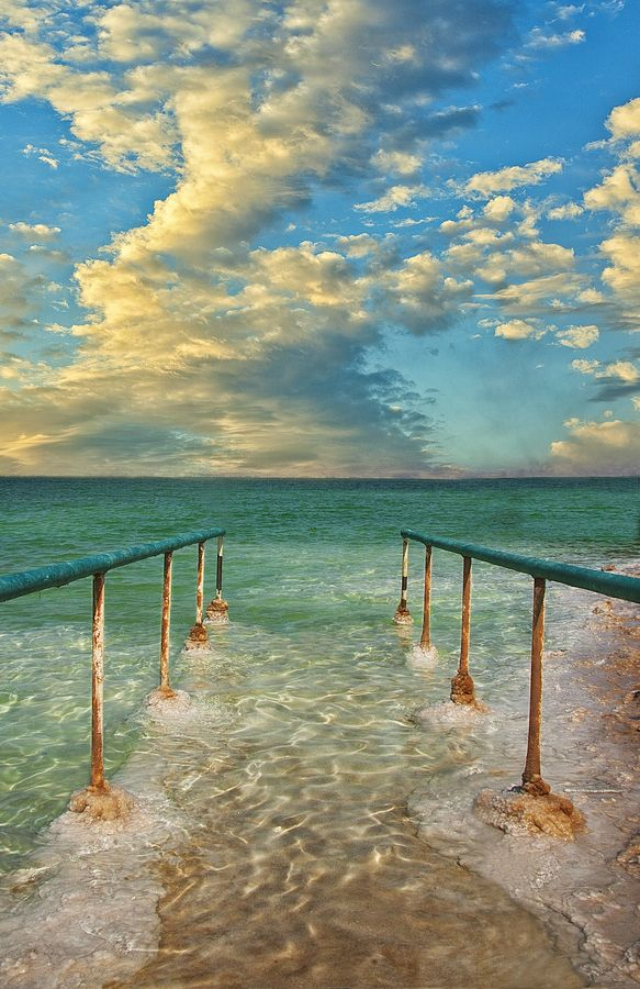 The Dead Sea, weirdest sensation to float in a foot of water.
