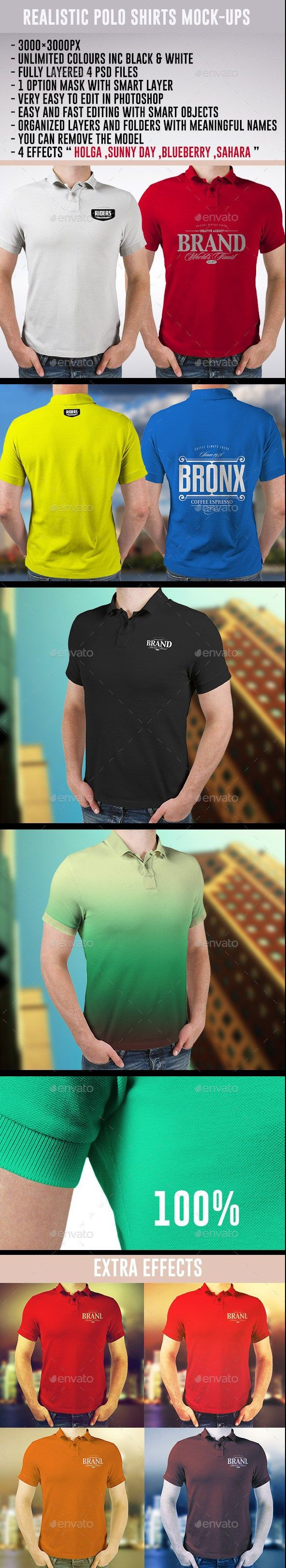 Scalable t shirt mockups more info - Realistic Polo Shirts Mock Ups T Shirts Apparel