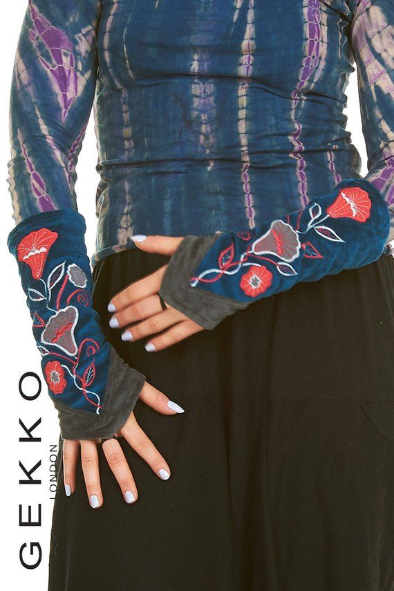fingerless gloves,Pixie FASHION ARM WARMERS GEKKO wrist warmers VELVET GLOVES