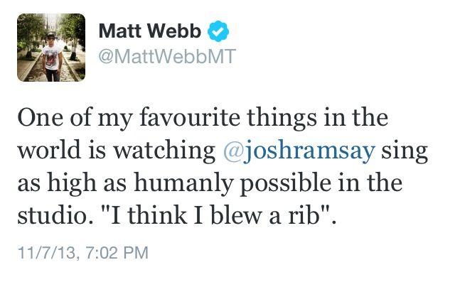 Matt Webb and Josh Ramsay