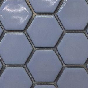 Grape Hexagonal Mosaic Tiles 48mm - Tiles - Surface Gallery #hexagonmosaics #bluehexagonmosaics #hexagonalmosaics #hexagontiles