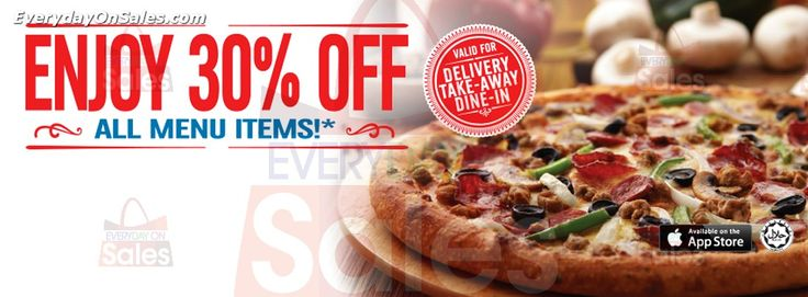 16 Jan 2015 onwards: Domino's Pizza All Menu Discounts Promotion for Food & Beverages