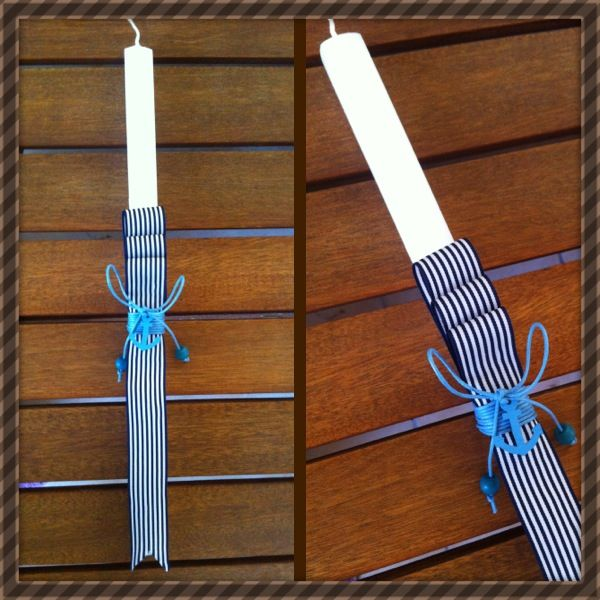Easter candle for boy! By Stella Handcrafts!