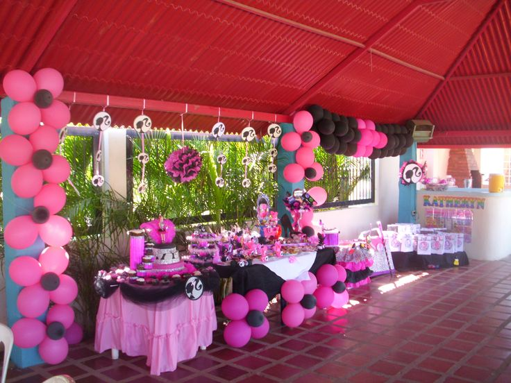 Decoración de fiesta, motivo de Barbie