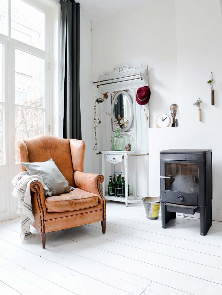 Love the room , the chair....but not that little heater. It looks out of place.