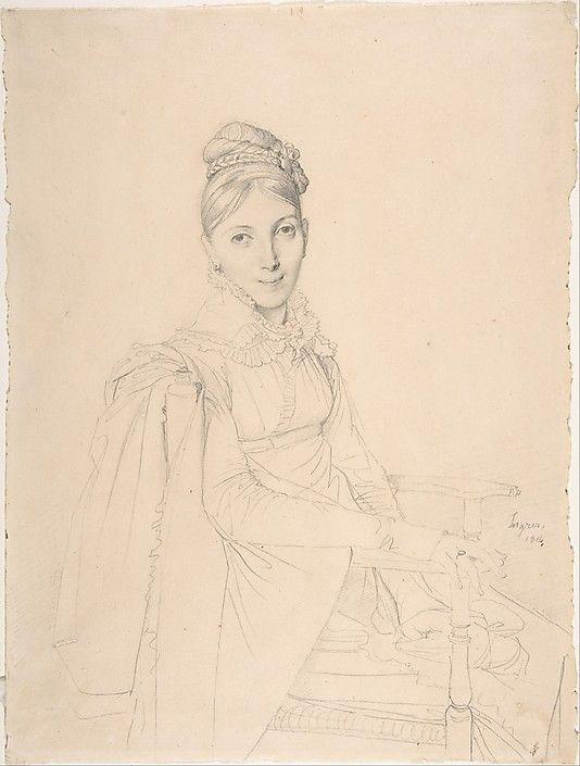 Portrait of a Seated Lady  Jean-Auguste-Dominique Ingres (French, Montauban 1780–1867 Paris)  Date: 1814 Medium: Graphite