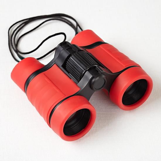 The Land of Nod | Kids Outdoor Toys: Kids Blue and Red Toy Binoculars in Imaginary Play
