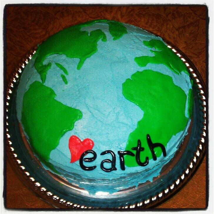 Earth Day Cake 2012: Cakes Ideas, Happy Birthday, Birthday Parties, Earth Birthday, Books Cakes, Cakes 2012, Birthday Cakes