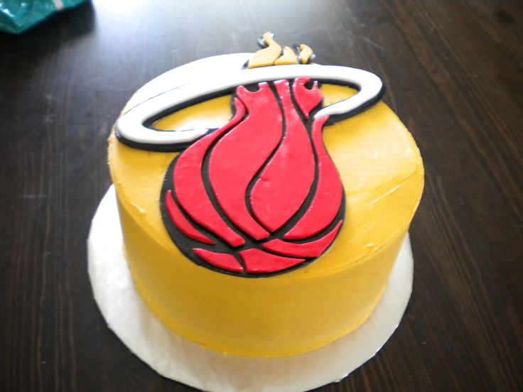 miami heat basketball cake | Miami Heat