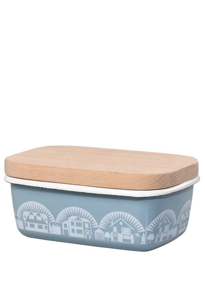 Image of Enamelware Butter Dish - Chalkhill Blue