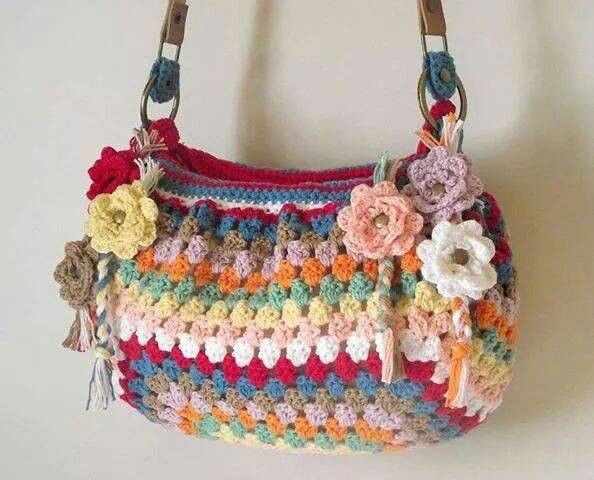17 best images about bolsas tejidas on pinterest bags - Bolsos tejidos a crochet ...