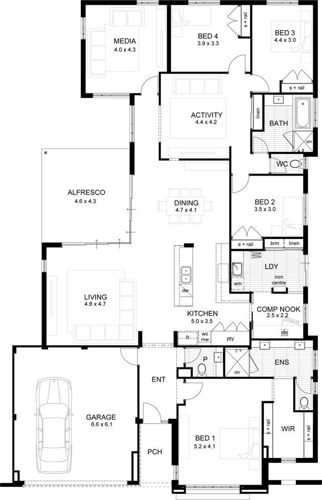 About house spiration plans on pinterest double garage floor plans