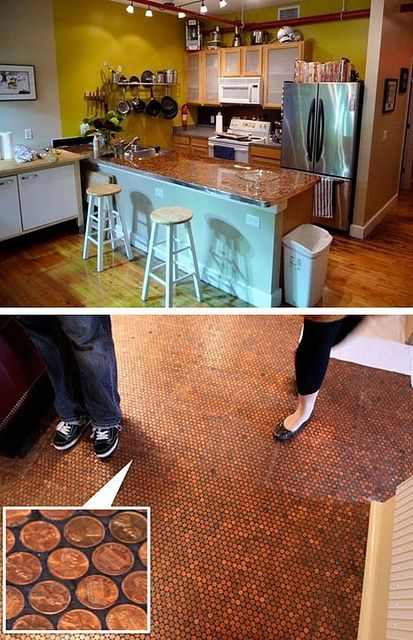 penny floor designs penny floor and counter by via flickr design ideas