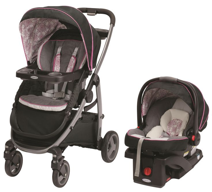 graco modes 3 in 1 stroller in fashionable pink and black zola fashion 3 strollers in one. Black Bedroom Furniture Sets. Home Design Ideas