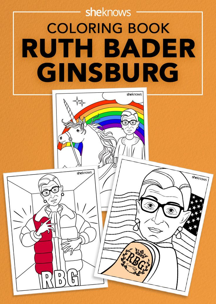 Ruth Bader Ginsburg finally gets the coloring book she's always deserved.