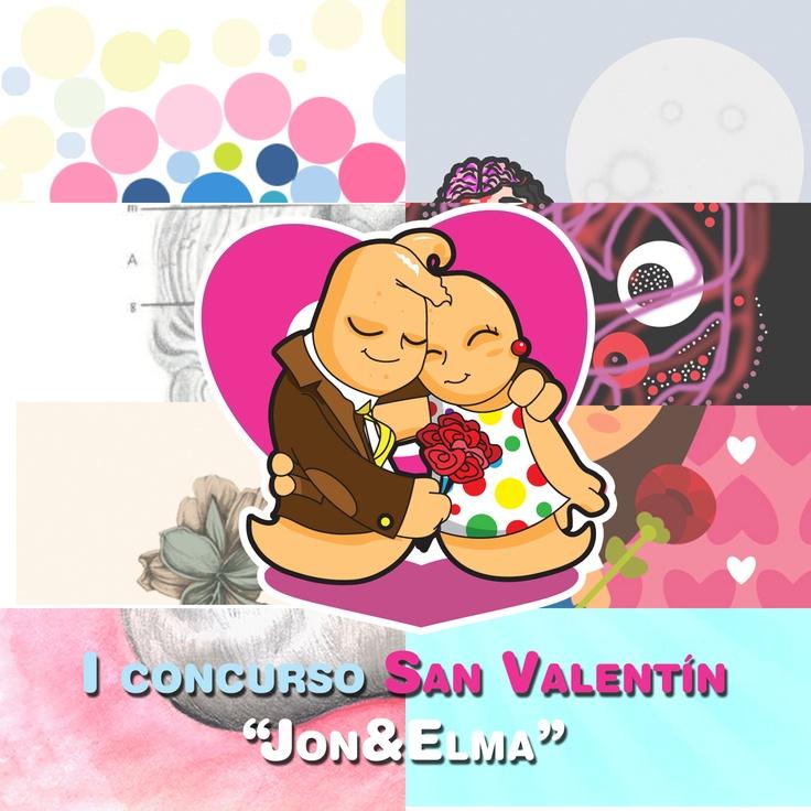 """Composición previa al fallo del jurado para el I concurso San Valentín """"Jon"""".    www.qustommize.com"""