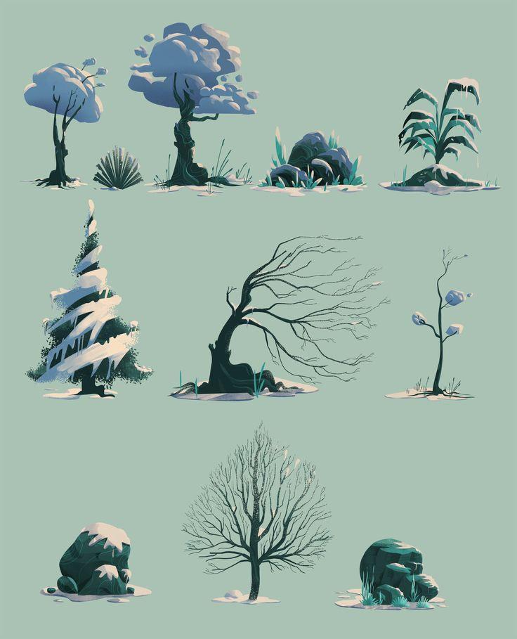 Winter, Ahmet Iltas on ArtStation at https://www.artstation.com/artwork/vwKwx