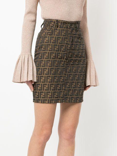 efcdf992c44f Fendi - Vintage Zucca pattern skirt