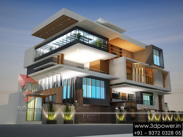 Ultra Modern Home Designs Building Elevation Pinterest