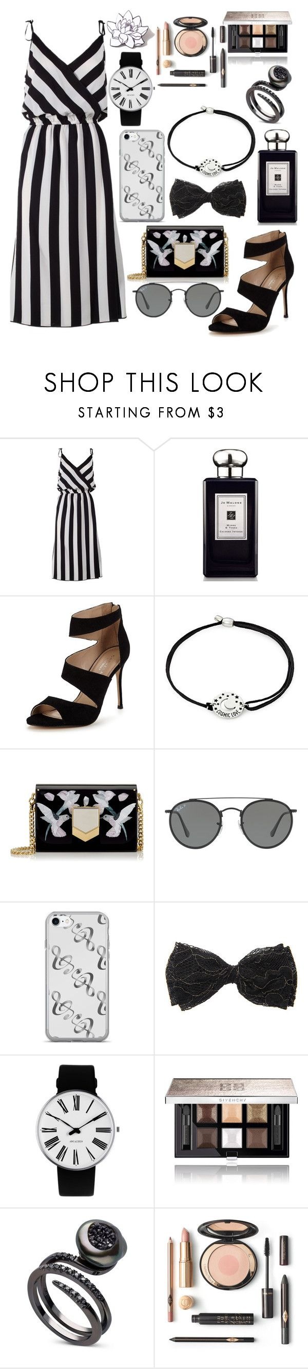 """""""Untitled #92"""" by christinaioana ❤ liked on Polyvore featuring Marc Jacobs, Jo Malone, Carvela, Alex and Ani, Jimmy Choo, Ray-Ban, Rosendahl, Givenchy and PINTRILL"""
