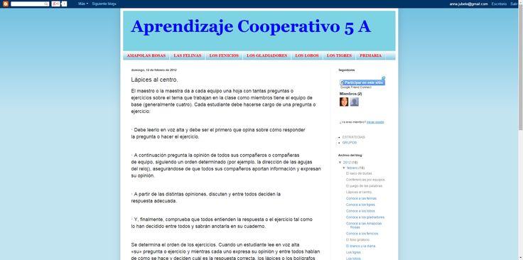 Aprendizaje Cooperativo: Lápices al centro.