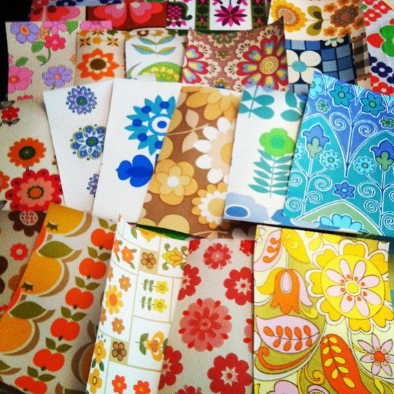 Vintage 1970s Wallpaper Craft Pack by Pommedejour on Etsy, $23.00