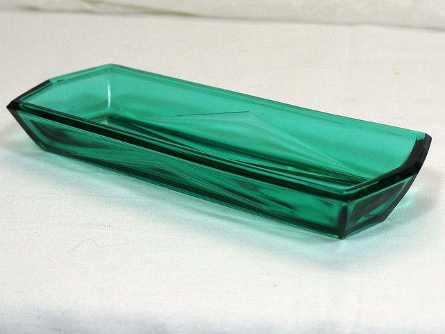 Vintage Schalen - kleine Glasschale - Pressglas - türkis - ein Designerstück von Willi13 bei DaWanda