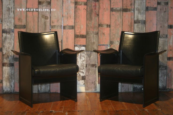 Vintage Matteo Gressi Korum Leather Chairs - Old English, South Yorkshire, UK - +44 (0)1302 714414