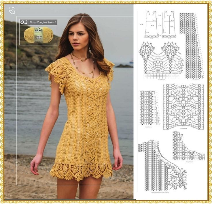 Mini dress (or Tunic) with its diagram