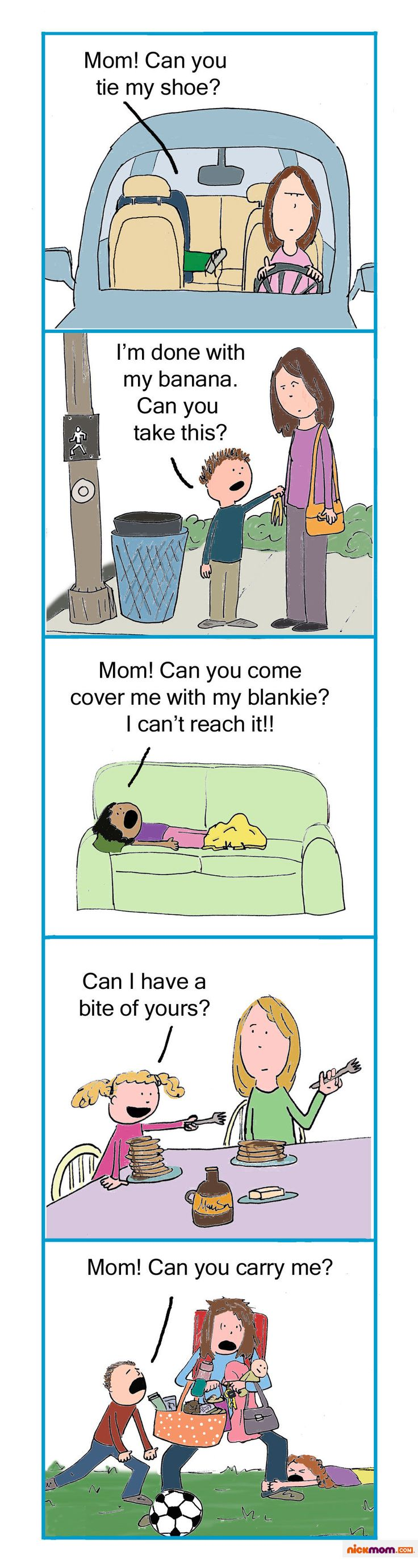 Sometimes, your kids' questions prompt only one answer. Check out 'Are You Seriously Asking Me That? Seriously?', a funny graphic only on NickMom.com!