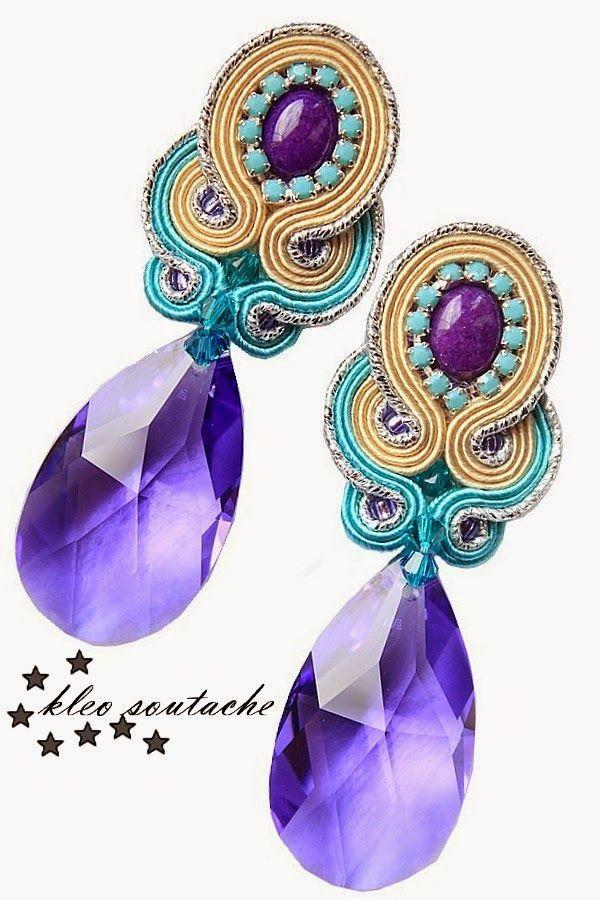 Kleo.azul violeta  / soutache joyas