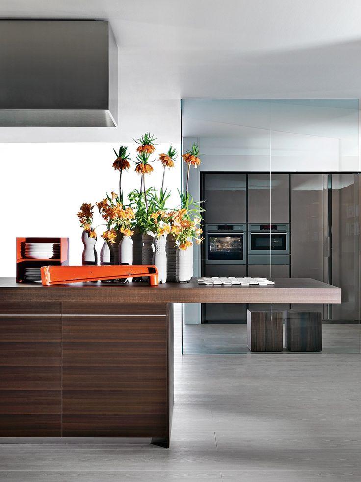 Kitchen with integrated handles VELA - @moltenidada