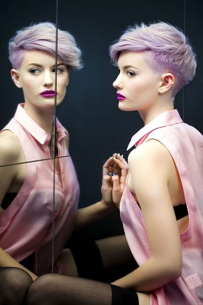 purple punk hairstyles for girls