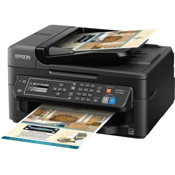 Epson WorkForce 2630 Inkjet Multifunction Printer Prints Copies Scans Faxes New #Epson