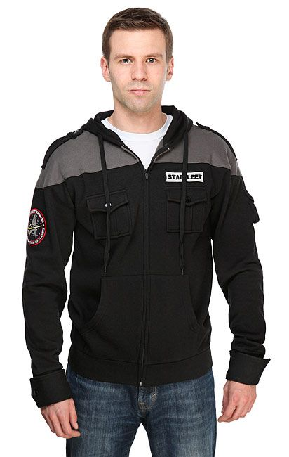 When Starfleet sends the crew on a tactical mission, their standard uniforms just won't do. But this Star Trek TNG: Starfleet Tactical Hoodie is perfect.  Away team missions need specialized gear. This hoodie is not officially Starfleet issue, but a fantasy on a theme from an alternate un