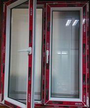 Pvc janela de batente ângulo PVC janela china arqueado janela de batente e fogo m windows