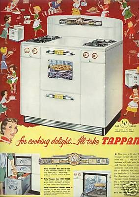 This is my stove, a 1948 Tappan deluxe...I like to think of it as vintage cool instead of outdated fire hazzard.