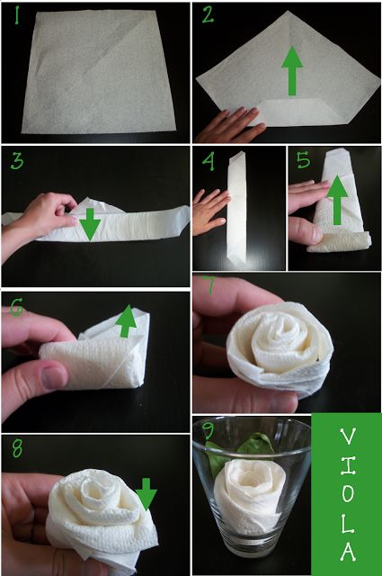 Napkin Rose Tutorial