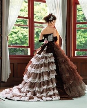 Chocolate Brown Wedding Dress- Available in Every Color