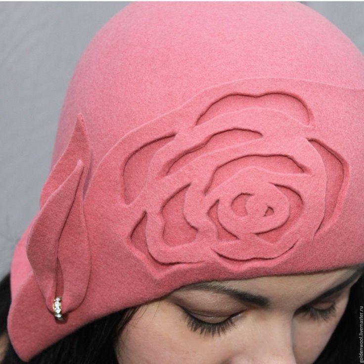 """Купить Шляпка из войлока """"Розовая вода"""" - розовый, шляпка из фетра, купить фетровую шляпу, войлок"""