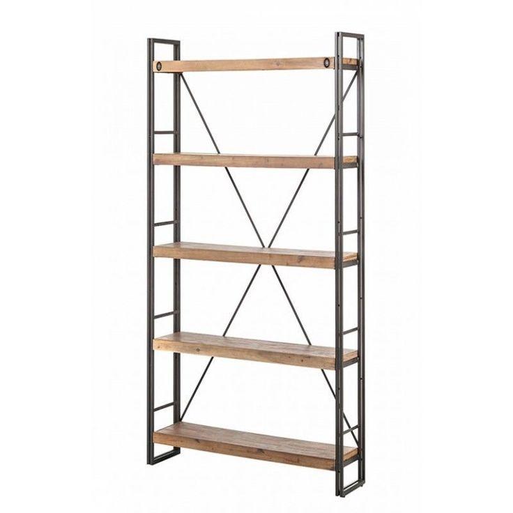 atelier biblioth que 5 tag res 80cm design industriel in maison meubles ensembles table et. Black Bedroom Furniture Sets. Home Design Ideas