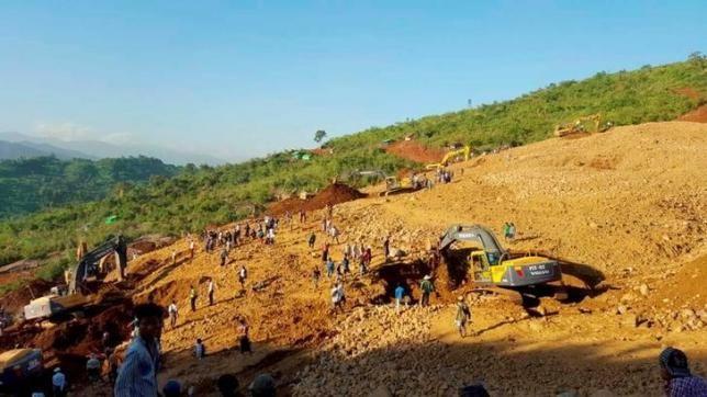 100 dead at myanmar jade mine